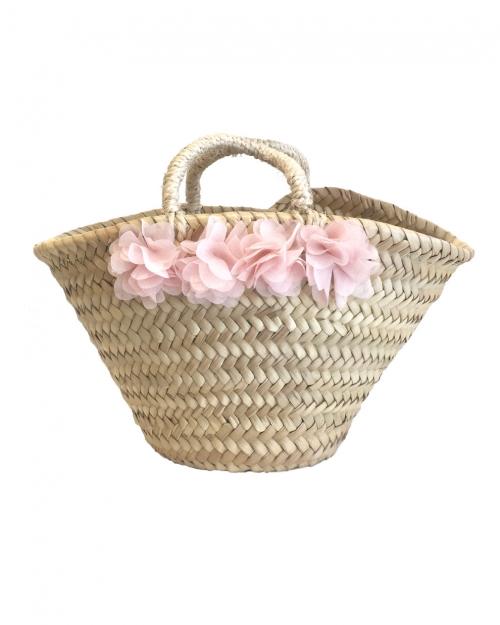 Mini Flora Hasır Çanta
